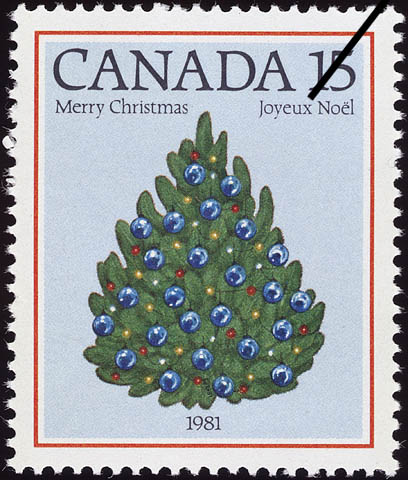 Christmas Tree, 1981 Canada Postage Stamp