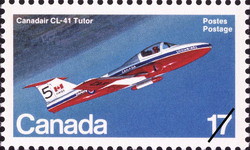 Canadair CL-41 Tutor Canada Postage Stamp | Canadian Aircraft, Transport and Training Aircraft
