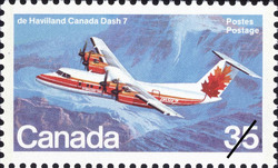 de Havilland Canada Dash 7 Canada Postage Stamp | Canadian Aircraft, Transport and Training Aircraft