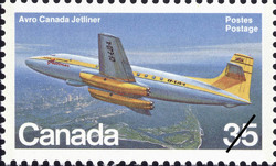 Avro Canada Jetliner Canada Postage Stamp | Canadian Aircraft, Transport and Training Aircraft