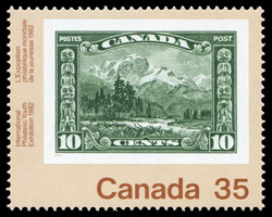 Mt. Hurd, 1928 Canada Postage Stamp | International Philatelic Youth Exhibition