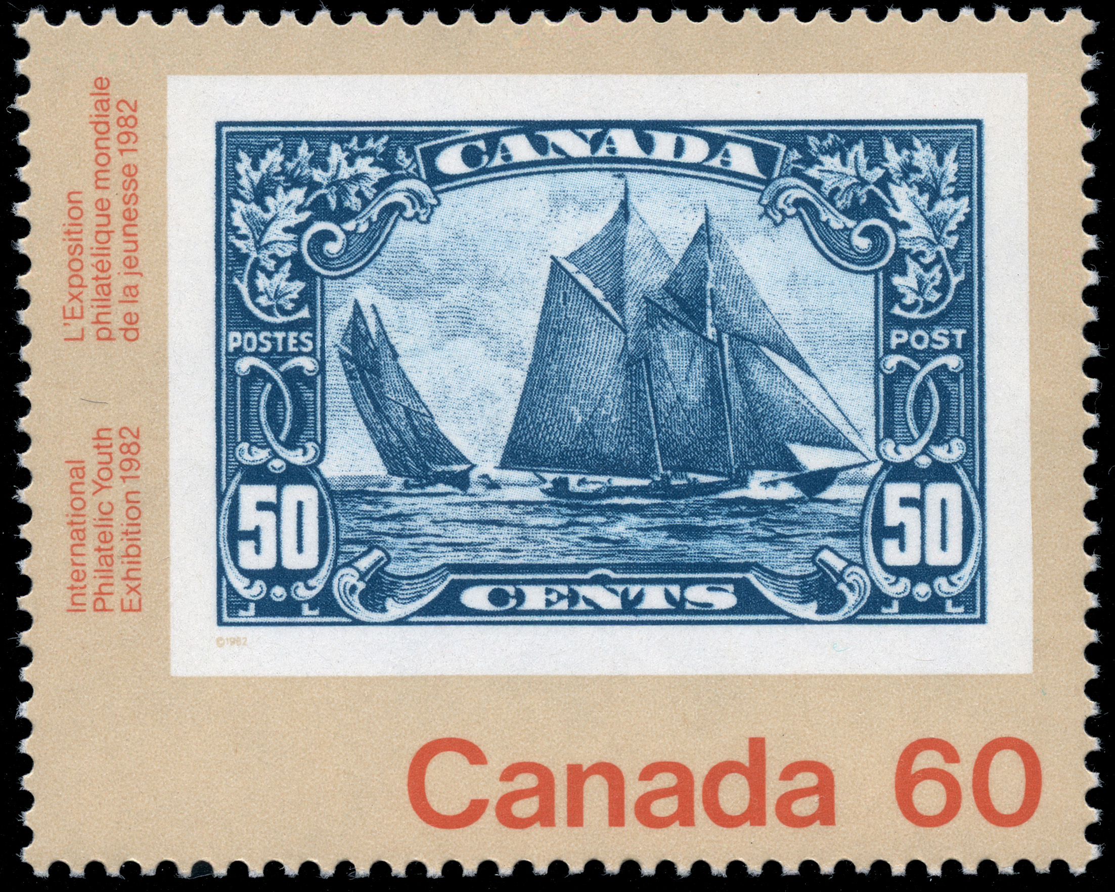 Bluenose, 1929 Canada Postage Stamp
