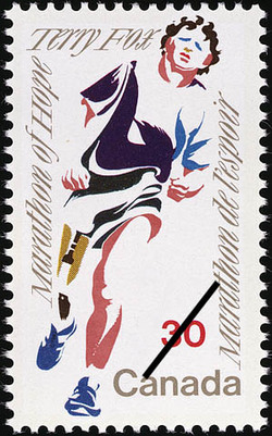 Terry Fox, Marathon of Hope Canada Postage Stamp