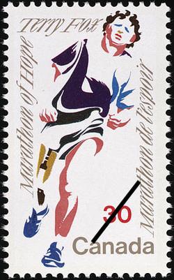 Terry Fox, Marathon of Hope Canada Postage Stamp