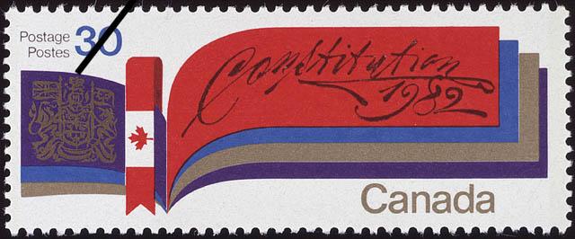 Constitution, 1982 Canada Postage Stamp