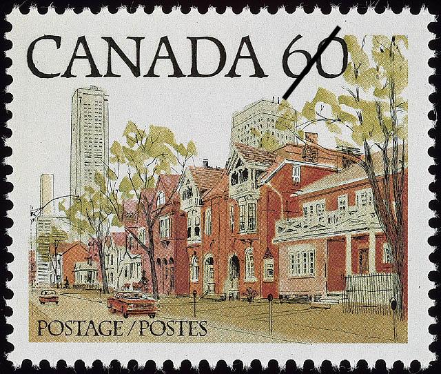 Ontario Street Scene Canada Postage Stamp