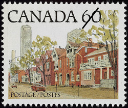 Ontario Street Scene Canada Postage Stamp | Streets of Canada