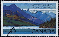Waterton Lakes Canada Postage Stamp | National Parks