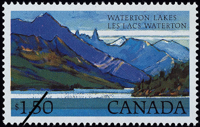 Waterton Lakes Canada Postage Stamp