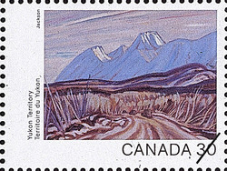 Yukon Territory, The Highway near Kluane Lake Canada Postage Stamp | Canada Day 1982, Canada Through the Eyes of Its Artists