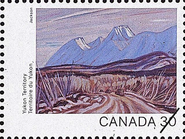 Yukon Territory, The Highway near Kluane Lake Canada Postage Stamp