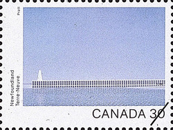 Newfoundland, Breakwater Canada Postage Stamp | Canada Day 1982, Canada Through the Eyes of Its Artists