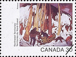 Northwest Territories, Along Great Slave Lake Canada Postage Stamp | Canada Day 1982, Canada Through the Eyes of Its Artists