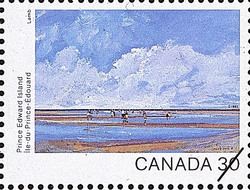 Prince Edward Island, Tea Hill Canada Postage Stamp | Canada Day 1982, Canada Through the Eyes of Its Artists