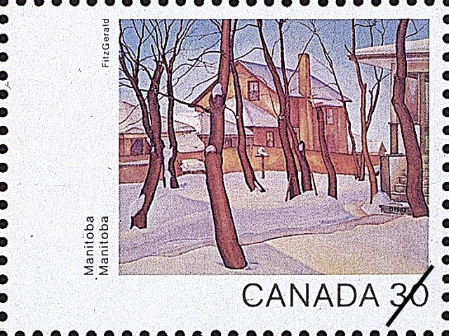 Manitoba, Doc Snyder's House Canada Postage Stamp | Canada Day 1982, Canada Through the Eyes of Its Artists