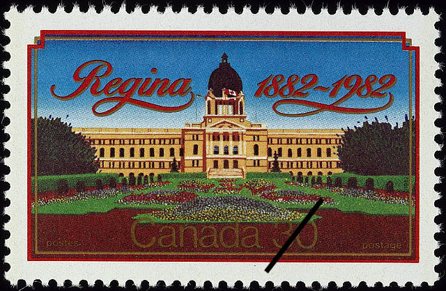 Regina, 1882-1982 Canada Postage Stamp