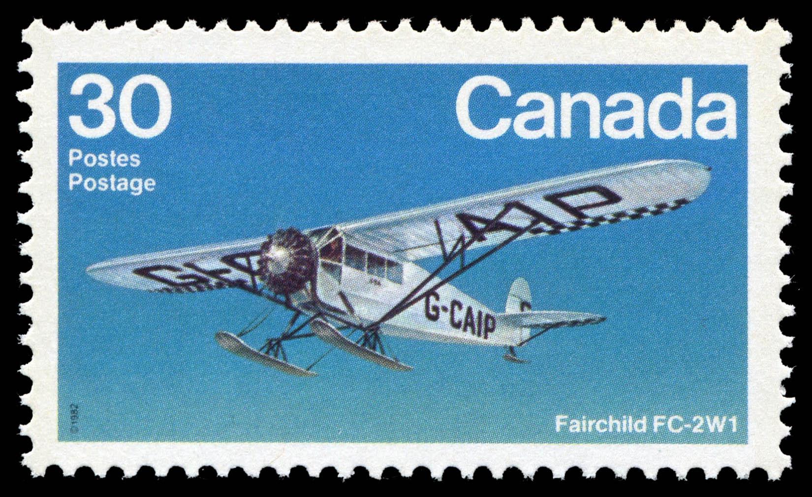 Fairchild FC-2W1 Canada Postage Stamp | Canadian Aircraft, Bush Aircraft
