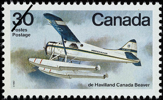 de Havilland Canada Beaver Canada Postage Stamp | Canadian Aircraft, Bush Aircraft