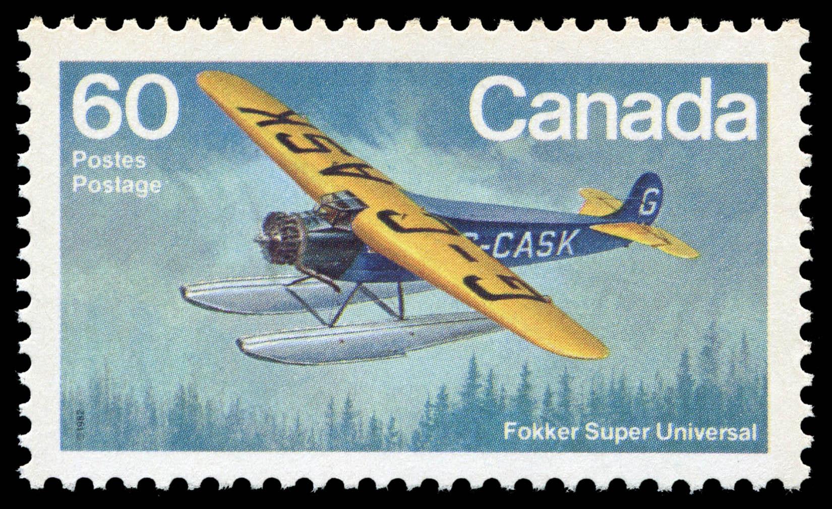 Fokker Super Universal Canada Postage Stamp