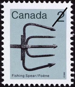 Fishing Spear Canada Postage Stamp | Heritage Artifacts