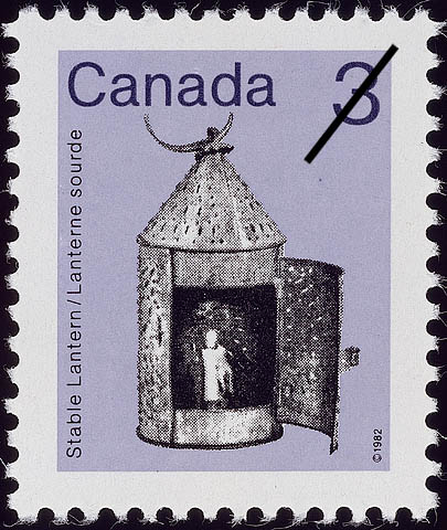 Stable Lantern Canada Postage Stamp