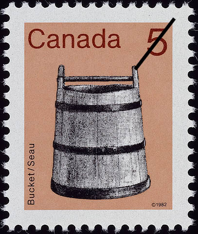 Bucket Canada Postage Stamp