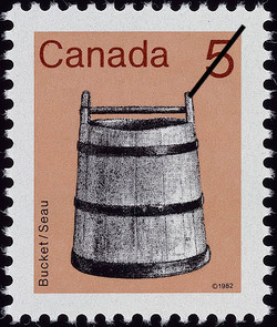 Bucket Canada Postage Stamp | Heritage Artifacts