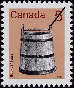 Bucket Canada Postage Stamp | Heritage Artifacts