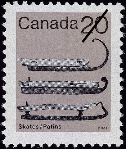 Skates Canada Postage Stamp