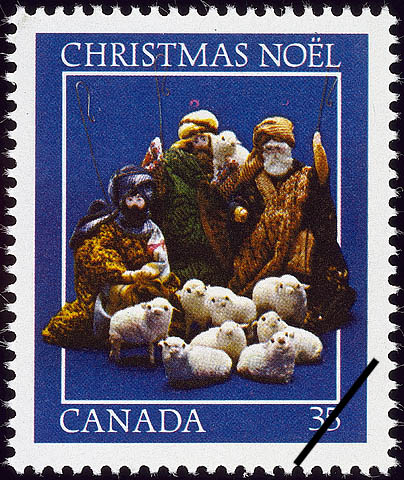 The Shepherds with their Sheep Canada Postage Stamp | Christmas, Nativity Scenes