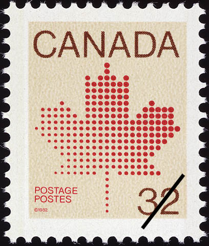Maple Leaf Canada Postage Stamp