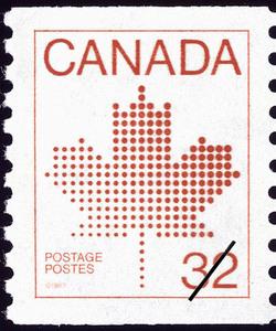 Maple Leaf Canada Postage Stamp