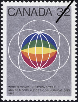 World Communication Year, 1983 Canada Postage Stamp