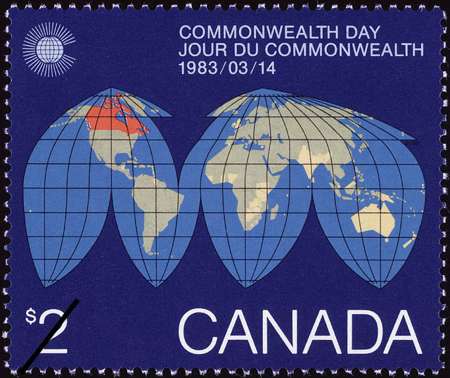 Commonwealth Day, 1983/03/14 Canada Postage Stamp
