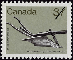 Wooden Plough Canada Postage Stamp | Heritage Artifacts