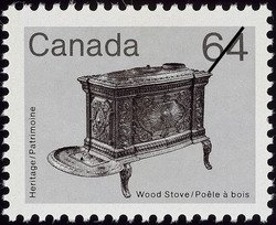 Wood Stove Canada Postage Stamp | Heritage Artifacts