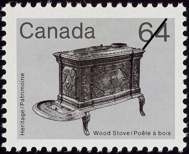 Wood Stove Canada Postage Stamp