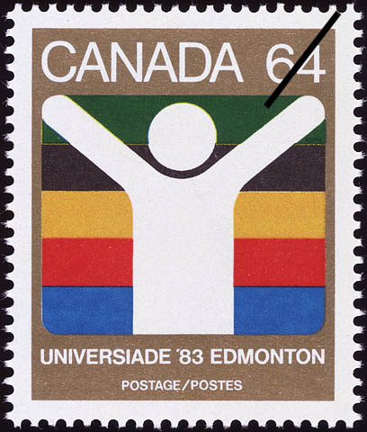 Universiade '83, Edmonton Canada Postage Stamp