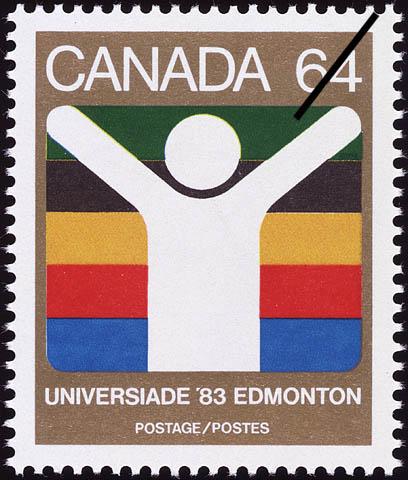 Universiade '83, Edmonton Canada Postage Stamp