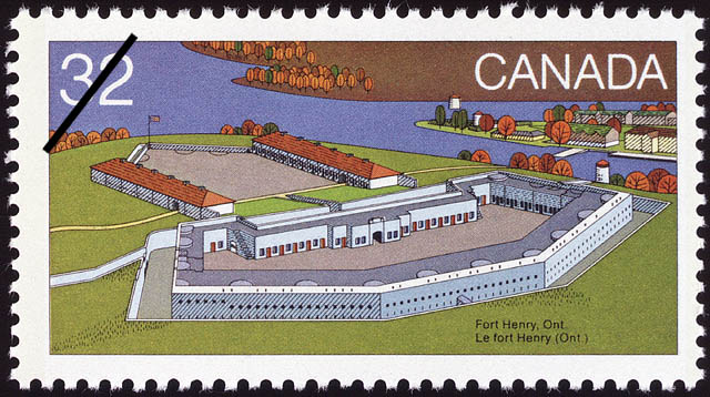 Fort Henry, Ont. Canada Postage Stamp | Canada Day, Forts across Canada