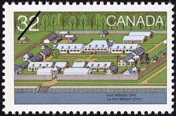Fort William, Ont. Canada Postage Stamp | Canada Day, Forts across Canada