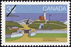 Fort Rodd Hill, B.C. Canada Postage Stamp | Canada Day, Forts across Canada