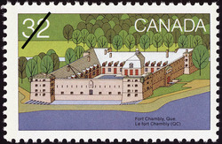 Fort Chambly, Que. Canada Postage Stamp | Canada Day, Forts across Canada