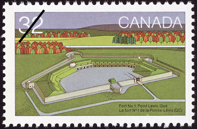 Fort No.1, Point Levis, Que. Canada Postage Stamp
