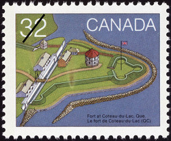 Fort at Coteau-du-Lac, Que. Canada Postage Stamp | Canada Day, Forts across Canada