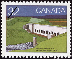 Fort Beausejour, N.B. Canada Postage Stamp | Canada Day, Forts across Canada