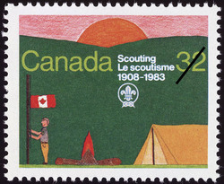 Scouting, 1908-1983 Canada Postage Stamp