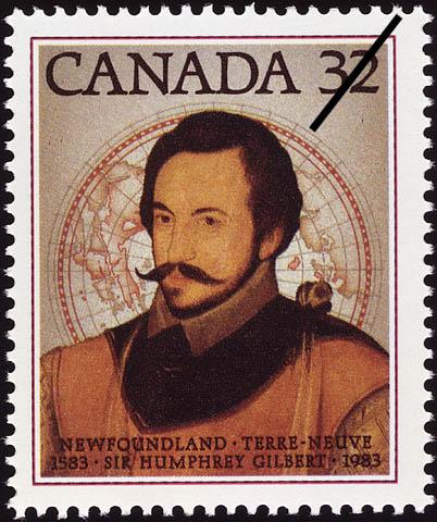Newfoundland, 1583-1983, Sir Humphrey Gilbert Canada Postage Stamp