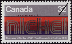 Nickel, Discovery at Sudbury, 1883 Canada Postage Stamp