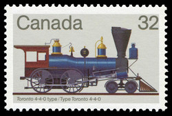 Toronto 4-4-0 Type Canada Postage Stamp | Canadian Locomotives, 1836-1860
